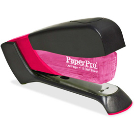 PaperPro® Compact Stapler, 15 Sheet Capacity, Translucent Pink