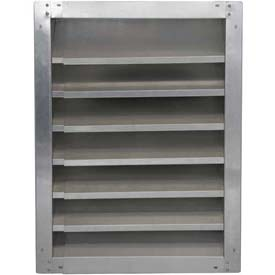 "High Galvanized Fixed-Height Adjustable Width Louver 42"" - GAFL 42-2442"