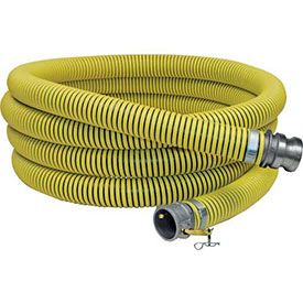 "2-1/2"" x 20' Fertilizer Solution Suction / Discharge Hose Assembly w/C x E Aluminum Cam and Groove"