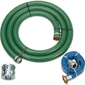 "Apache 98128657 2"" Trash Pump Hose Kits w/ Aluminum Couplings and Fittings by"