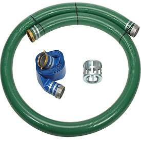 "4"" Trash Pump Hose Kits w/ Aluminum Couplings and Fittings by"
