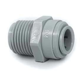 "1/4"" Male Connector With 1/4"" Nptm Thread - Push-In Fitting - Pkg Qty 10"