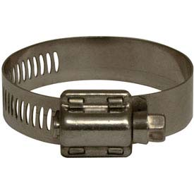 "Apache 48008518 3-1/8"" - 5"" 301 Stainless Steel Worm Gear Clamp w/ 9/16"" Wide Band"
