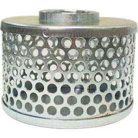 "1-1/2"" FNPT Plated Steel Round Hole Strainer"