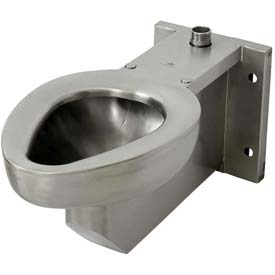Acorn R2105-T-1 Siphon Jet Wall Mounted Toilet  W/Top Spud, Stainless Steel Finish