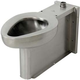 Acorn R2115-T-2 Siphon Jet Floor Mounted Toilet  W/Top Spud, Stainless Steel Finish