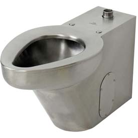 Acorn R2141-T-3 Top Siphon Jet Floor Mounted Toilet  W/Top Spud, Stainless Steel Finish
