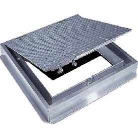Acudor 36x36 Aluminum Floor Door-Channel Frame With Drain