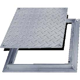 Acudor 12x12 Aluminum Diamond Plate Floor Door - No Hinge