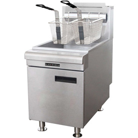 Adcraft Black Diamond BDCTF-75/NG Countertop Fryer, Natural Gas, 75,000 BTU by