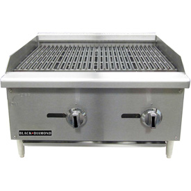 "Adcraft Black Diamond BDECTC-24/NG Charbroiler, Standard, Natural, 120,000 BTU, 24""W,... by"