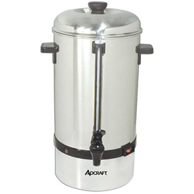 Adcraft CP-40 Coffee Percolator, 40 Cup, Stainless Steel, 120V by