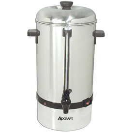 Adcraft CP-60 Coffee Percolator, 60 Cup, Stainless Steel, 120V by