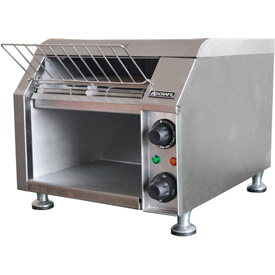 "Adcraft CVYT-120 Conveyor Toaster, 2 Slice, 300 Slices Per Hour, Stainless Steel, 10""W, 120V by"