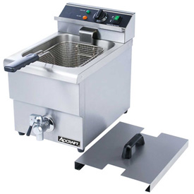 Adcraft DF-12L Countertop Fryer w/Faucet, Electric, Single Tank, 208/240V by