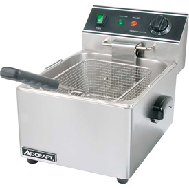 Adcraft DF-6L Countertop Fryer, Electric, Single Tank, 120V by