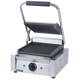 Adcraft SG-811 Sandwich Grill, w/Grooved Plates, 120V by
