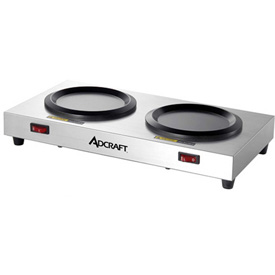 Adcraft WP-2 Dual Decanter Warmer Plate, Stainless Steel, 120V by