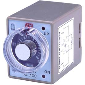 Advance Controls 104222 Multi-Range/Voltage/On-Delay Min./Hr. Timer, 8 pin, DPDT (min-hrs)
