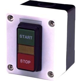 Advance Controls 104545, 1 Hole, Dual Start/Stop, Start Stop 22mm Non Metallic Push Button Station