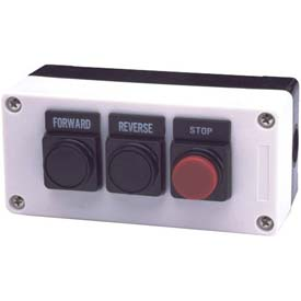 Advance Controls 104553, 3 Hole, Flush Ext, Forward Reverse Stop 22mm Non Metal Push Button Station