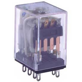 Advance Controls 105561, Relay, 95 Series,  DPDT, Plug (Solder) Terminal, Lightdicator, Coil 24 VAC