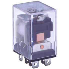 Advance Controls 105725,Industrial Relay,96 Series,DPDT,Blade Terminal,Top MTD Flange,Coil 24 VDC