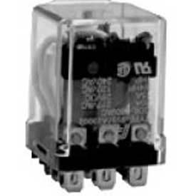 "Advance Controls 106133,Industrial Relay,98 Series,Heavy Duty,3PDT3/16"" Blade,Push To Test,24 VDC"