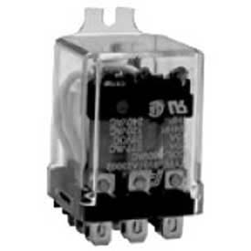Advance Controls 106158, Relay, 99 Series, Heavy Duty,  DPDT, 1/4 Blade, Side  Flange, Coil 120VAC