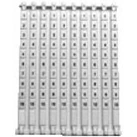 Advance Controls 140254, Marking Tags For Terminal Block, KN Series, 6.5MM Term. Pitch, Legend 1-10