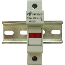Advance Controls 152406 DIN Rail Fuse Holder (Midget), 1 Pole, Midget Fuse, No Indicator Light