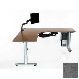 "Vox Perfect Corner Desk with Power Adjustment - 144""L x 28""W Digital Storm"