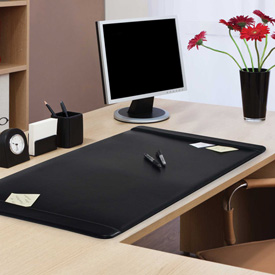 Advantus Leatherlike Desk Pad with Side Panels Package Count 4 by