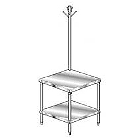 "Aero Manufacturing 2MGRU-3636 36""W x 36""D Mixer Stand with Utensil Rack"