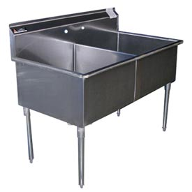Premium SS Non-NSF Two Bowl Sink - 24 x 21