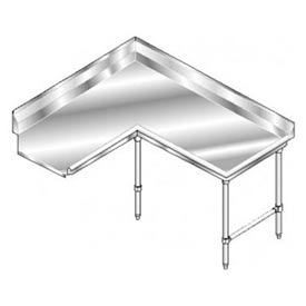 Deluxe SS NSF Clean Corner w/ Right Drainboard - 48 x 60