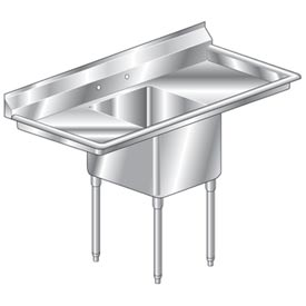 """One Bowl Deluxe SS NSF Sink with two 20'W Drainboards - 20""""Wx30""""D"""