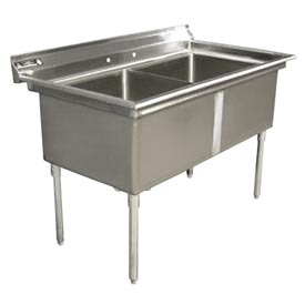 "Aero 3F2-1827  Deluxe Two SS NSF Sink - 27""Wx18""D"