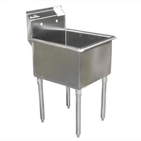 Deluxe SS Non-NSF One Bowl Sink - 24 x 24