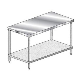 "Aero Manufacturing 3TG-30120 Stainless Steel Workbench - 120""W x 30""D Deluxe Flat Top Workbench"