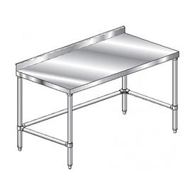 "Aero Manufacturing 3TSSX-24132 132""W x 24""D Stainless Steel Workbench, 2-3/4"" Backsplash"