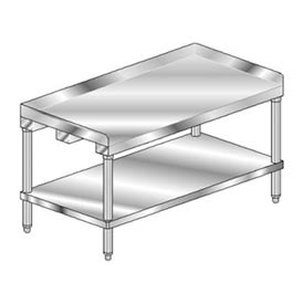 "Aero Manufacturing 4EG-2460 60""W x 24""D Equipment Stand with Galvanized Undershelf"