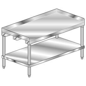 "Aero Manufacturing 4ES-2436 36""W x 24""D Equipment Stand with Stainless Undershelf"
