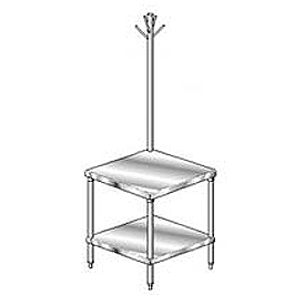 "Aero Manufacturing 4MGRU-3036 36""W x 30""D Mixer Stand with Utensil Rack"