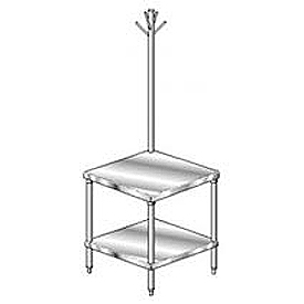 "Aero Manufacturing 4MSRU-3024 24""W x 30""D Mixer Stand with Utensil Rack"