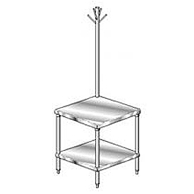 "Aero Manufacturing 4MSRU-3030 30""W x 30""D Mixer Stand with Utensil Rack"