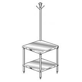 "Aero Manufacturing 4MSRU-3036 36""W x 30""D Mixer Stand with Utensil Rack"