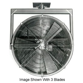 "Americraft 24"" EXP Alum Propeller Fan W/ 2 Way Swivel Yoke 24DA-12Y-1-EXP-1 HP 7400 CFM"