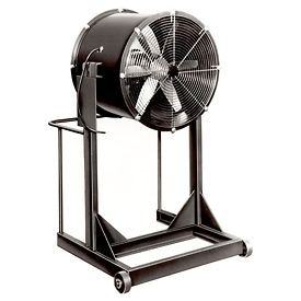 "Americraft 24"" Steel Propeller Fan With High Stand 24DSL-3/4H-3-TEFC 3/4 HP 6730 CFM"