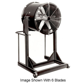 "Americraft 36"" Steel Propeller Fan With High Stand 36DSL-1-1/2H-3-TEFC 1-1/2 HP 14500 CFM"